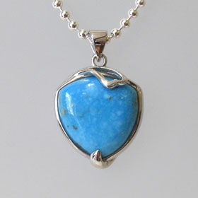 Turquoise Silver Pendant Lola