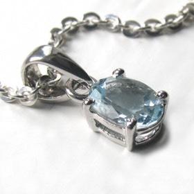 0c41d4a5b992 Aquamarine Pendant Jodie Solitaire aquamarine pendant claw set in sterling  silver