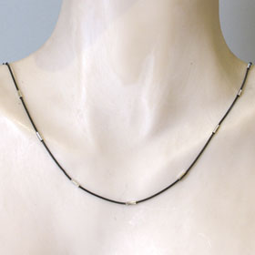 Black Sterling Silver Snake Chain with Diamond Cut Tubes
