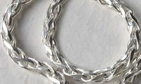 Sterling Silver Wheat Bracelets