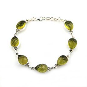 Lemon Quartz and Sterling Silver Bracelet Henrietta