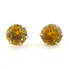 Citrine Stud Earrings Amelie