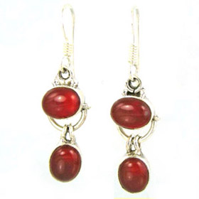 Red Onyx Droplet Earrings Teresa