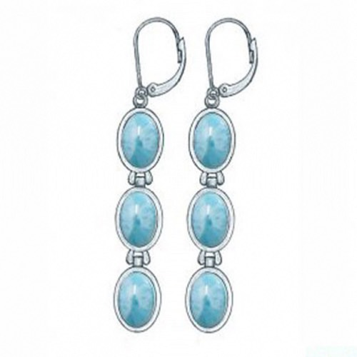 Larimar Earrings Agatha