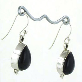 Black Onyx Drop Earrings Adelle