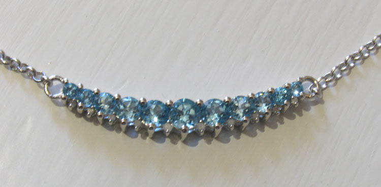 Swiss Blue Topaz Necklace Celestine