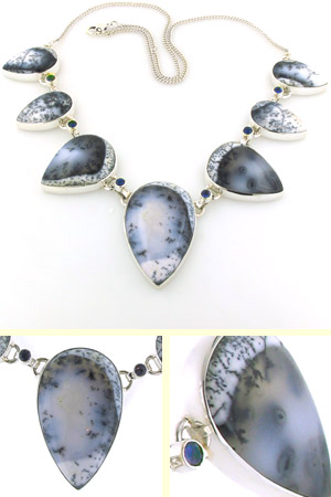 Dendritic Agate Necklace Clarice