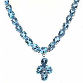 Sky Blue Topaz Pendant Necklace Judy