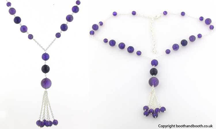Amethyst Bead Necklace Belle
