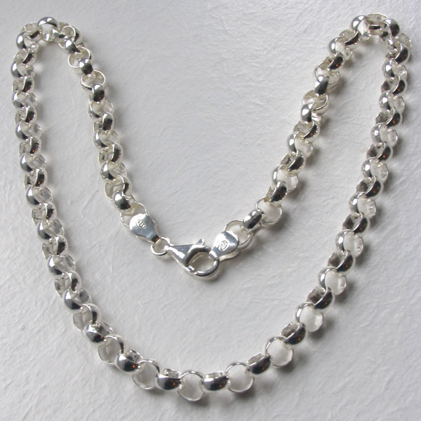 Sterling Silver Belcher Chain - 6.5mm