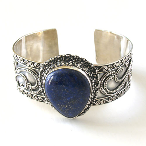 Lapis Lazuli Sterling Silver Bangle Jacinta