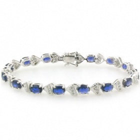 Iolite and Sterling Silver Bracelet Irina
