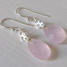 Rose Quartz Earrings Charlotte