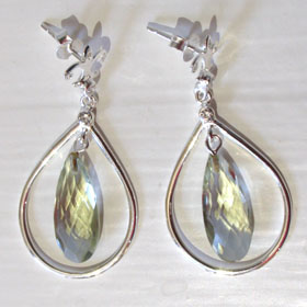 Green Amethyst Earrings Connie