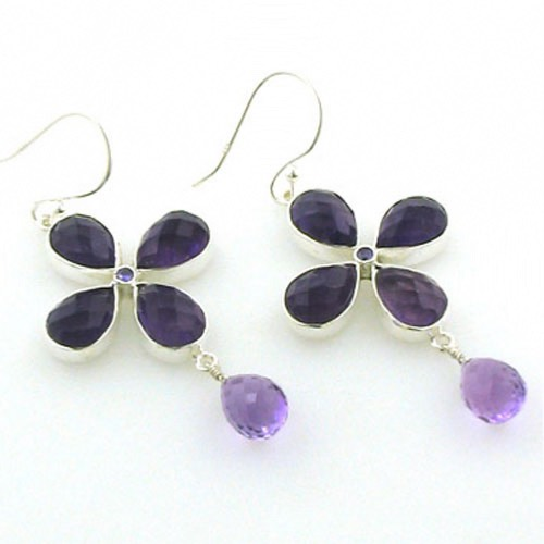 Amethyst Droplet Earrings Elizabeth