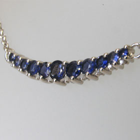 Iolite and Diamond Necklace Celestine