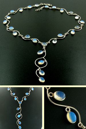 Opalite Necklace Esme