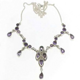 Amethyst Droplet Necklace Debbie
