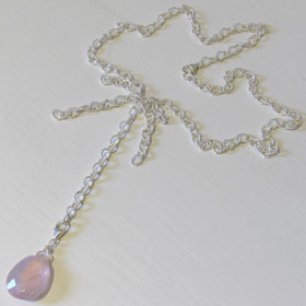 Rose Quartz Pendant Necklace kiki