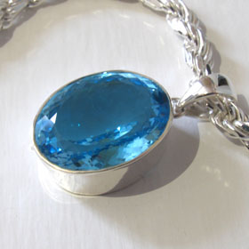 Swiss Blue Topaz Pendant Ashley