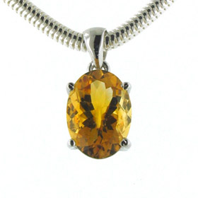 Natural Citrine Pendants - Gemstone Jewellery
