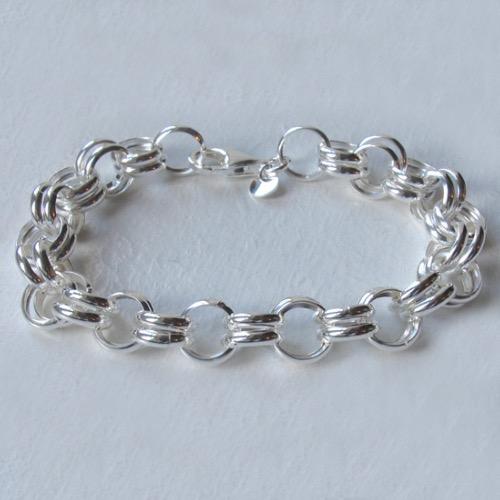 c9040079adec Sterling Silver Double Link Belcher Bracelet