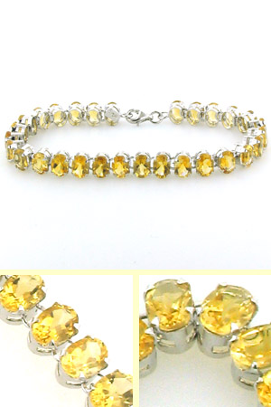 Citrine and Sterling Silver Bracelet Tilda