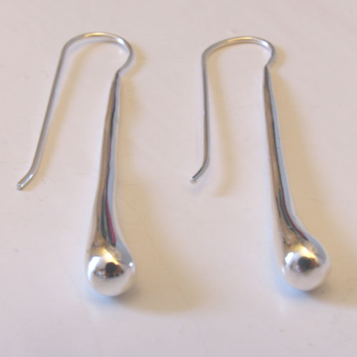 Long Sterling Silver Drops Claire
