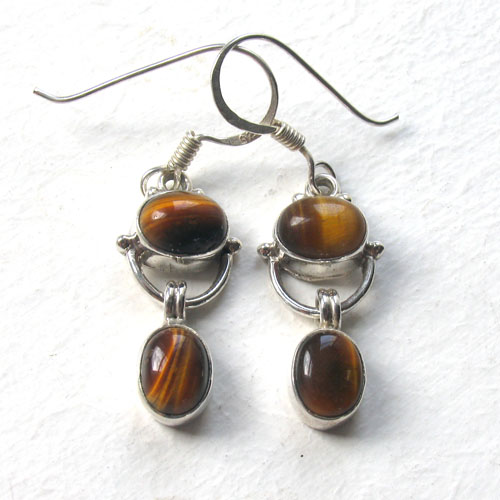Tiger's Eye Earrings Ileana