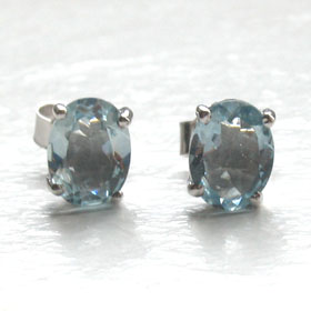Aquamarine Stud Earrings Mayla