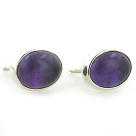 Amethyst Stud Earrings Nadine
