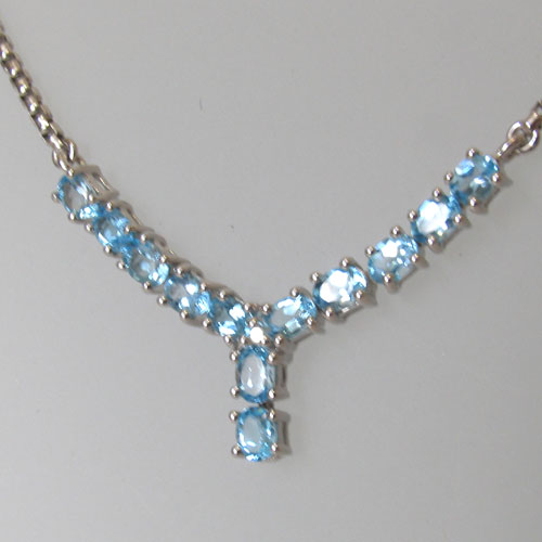 Blue Topaz Necklace Ella