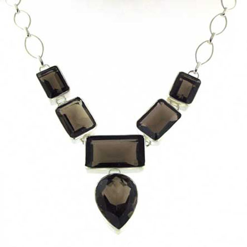 Smokey Quartz Necklace Lulu