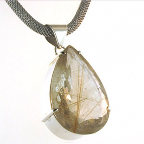 Golden Rutilated Quartz Pendant Sian