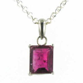 Pink Tourmaline Pendant Jancis in Sterling Silver