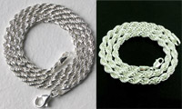 Sterling Silver Rope Necklaces