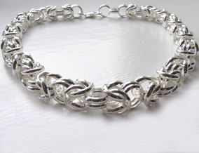 silver byzantine necklace