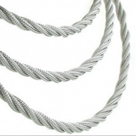Silver mesh rope chain