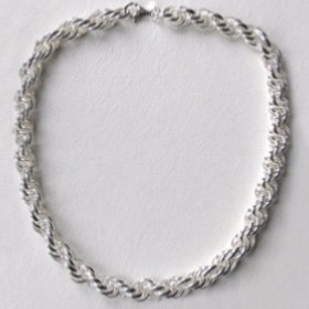 silver links necklace